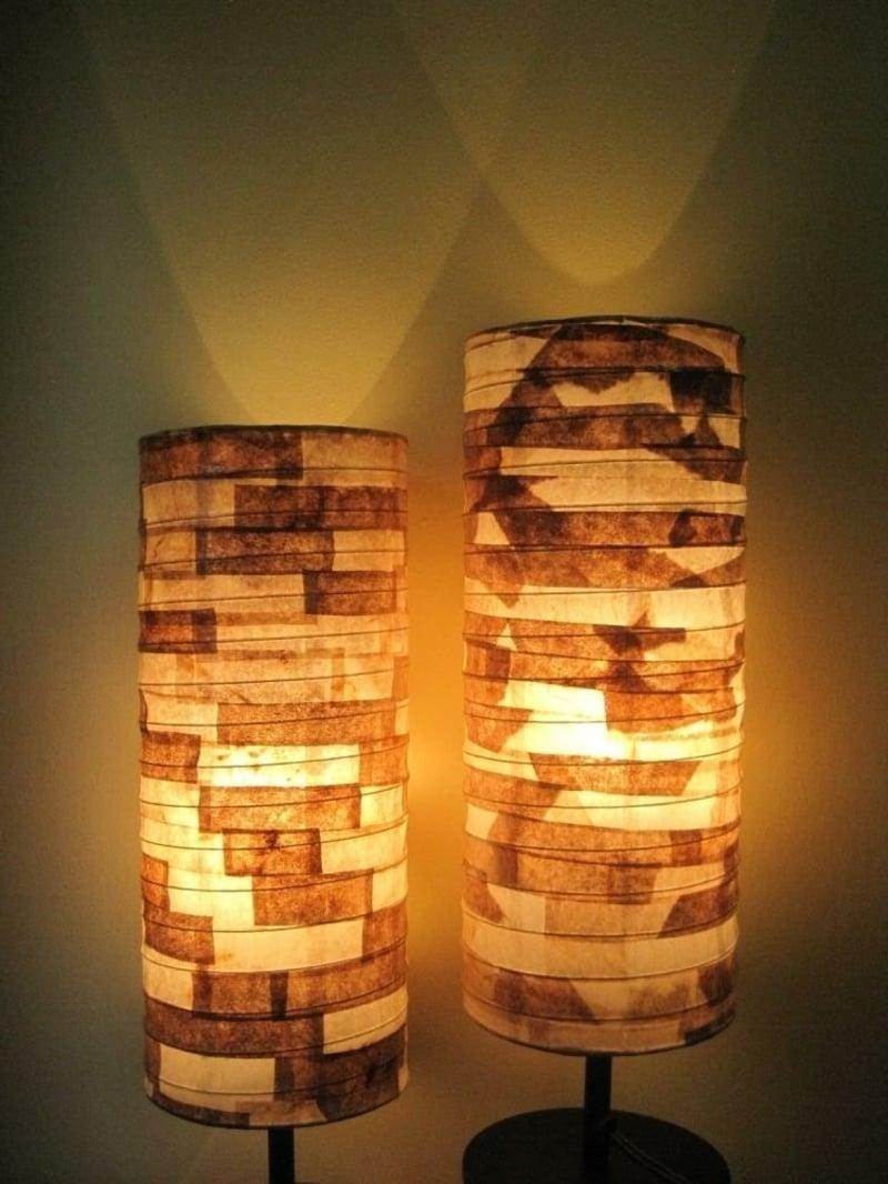 Patchwork Lampenschirm machen aus Papier