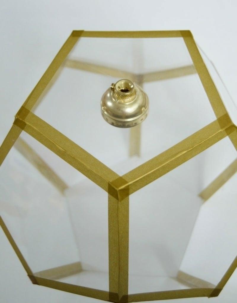 Lampenschirm basteln aus Plastik transparent