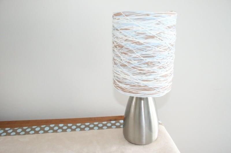 Tischlampe Schnur umwickeln Lampenschirm