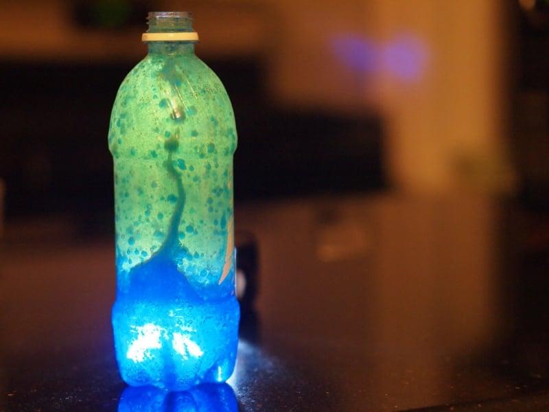 Lavalampe selber machen in Flasche