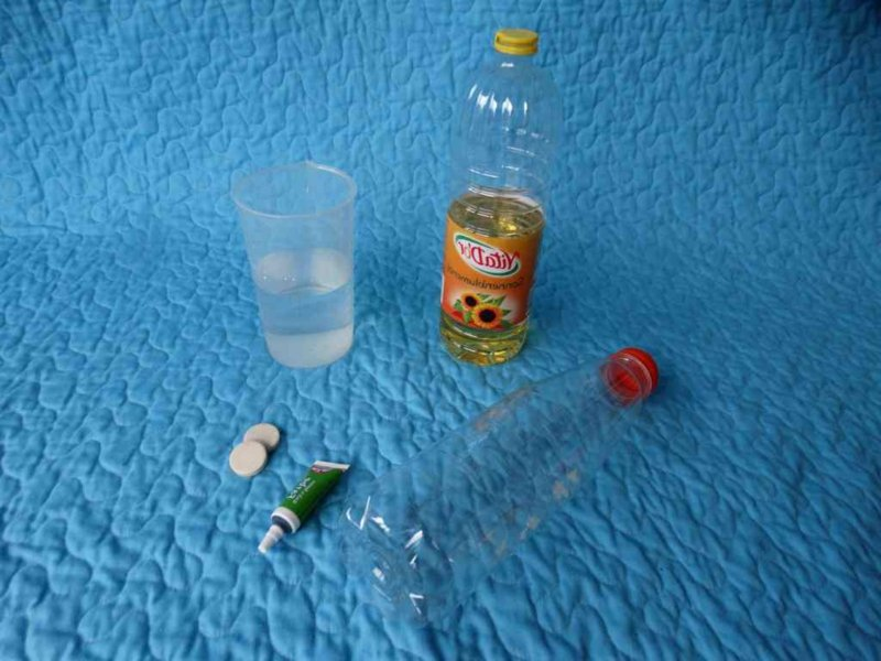 Lavalampe selber machen nötige Materialien