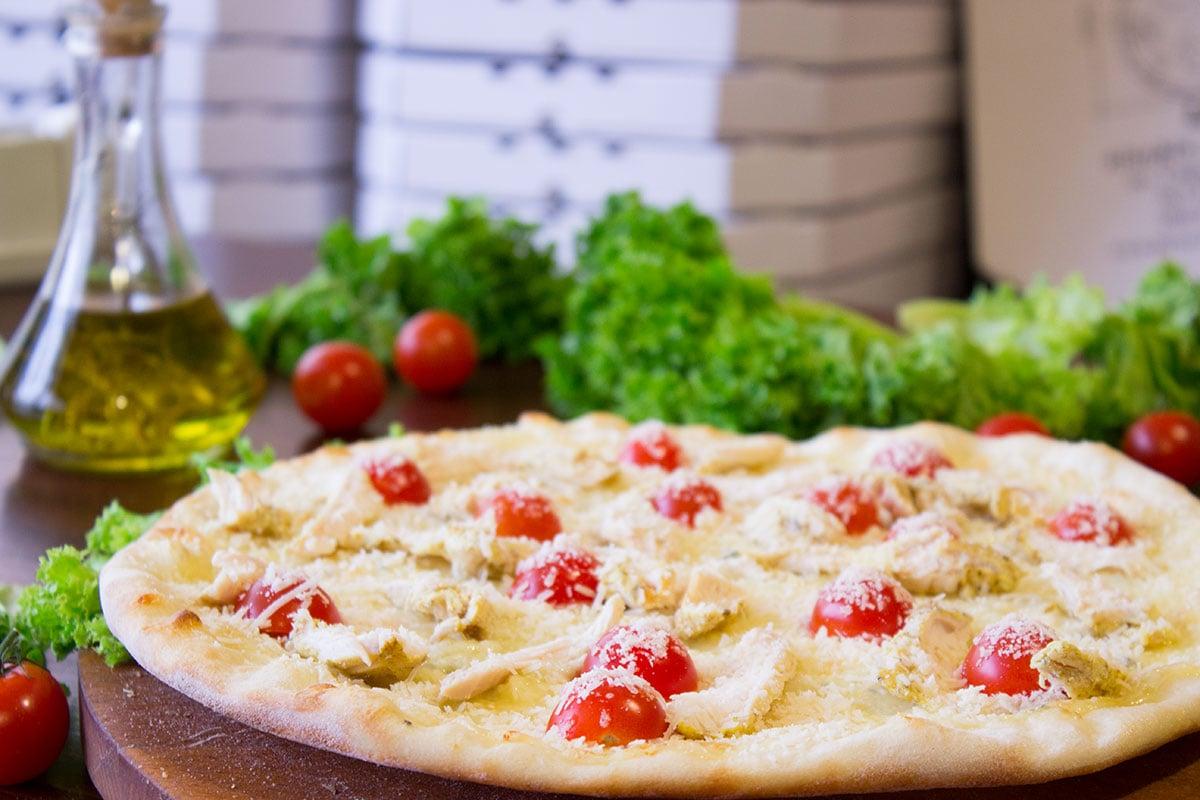 Pizza Margherita belegen