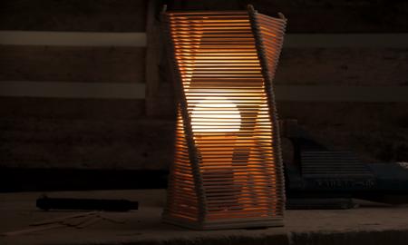 Nachttischlampe selber machen Eisstiele