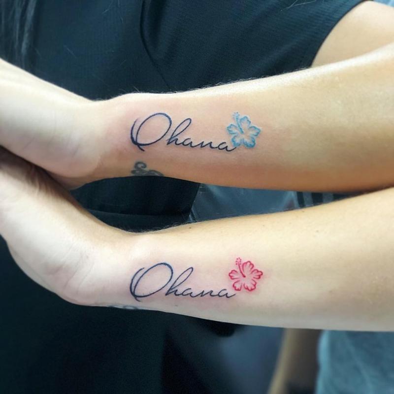 Ohana Tattoo Freunde Familie
