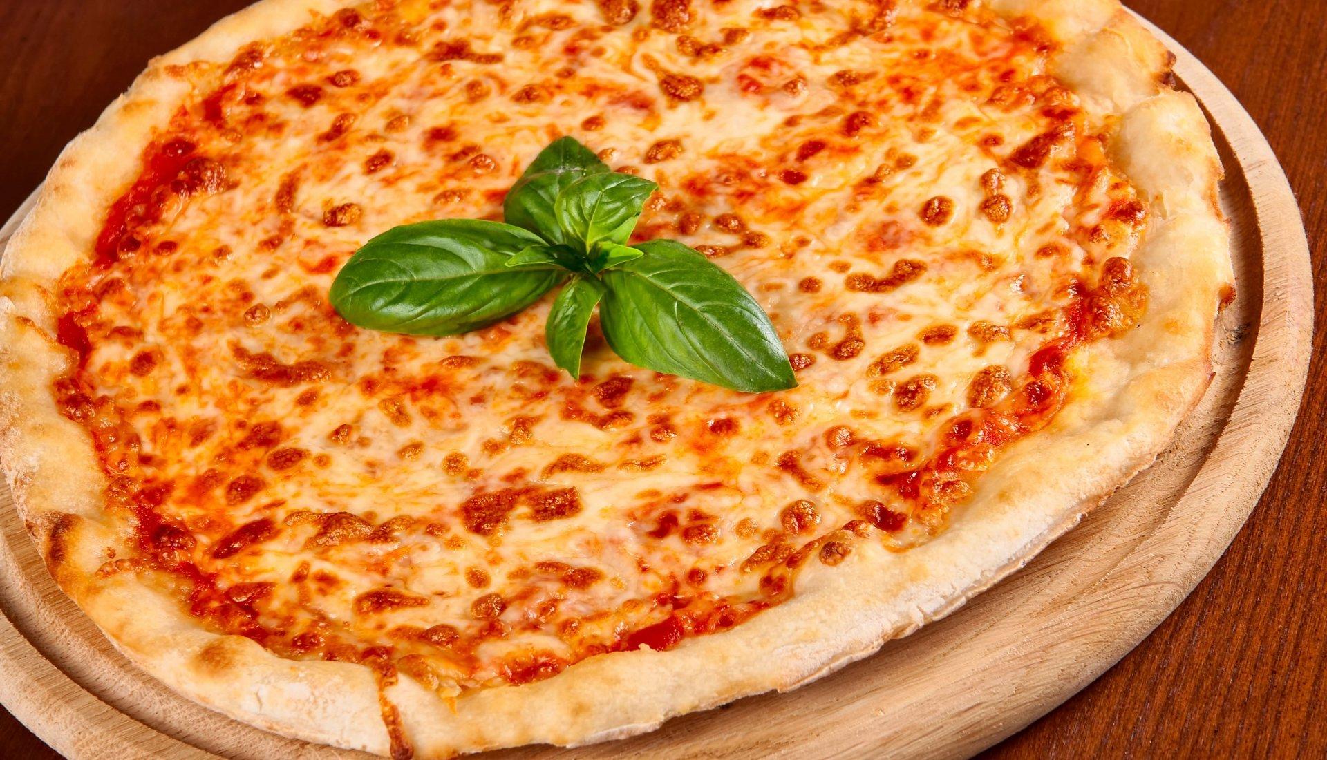 vegetarische Pizza mit Käse