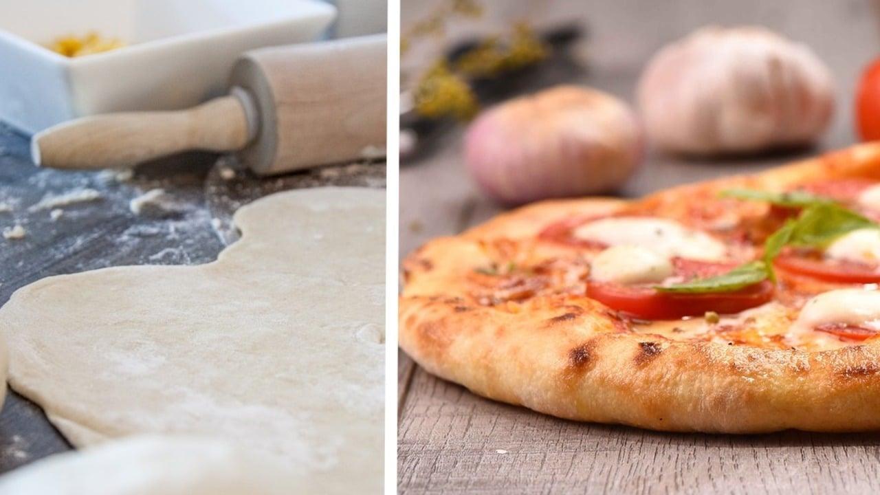 Pizza zubereiten Rezept für den Teig