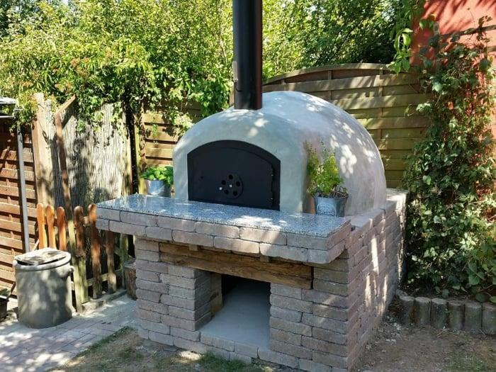 Pizzaofen selber bauen aus Backstein