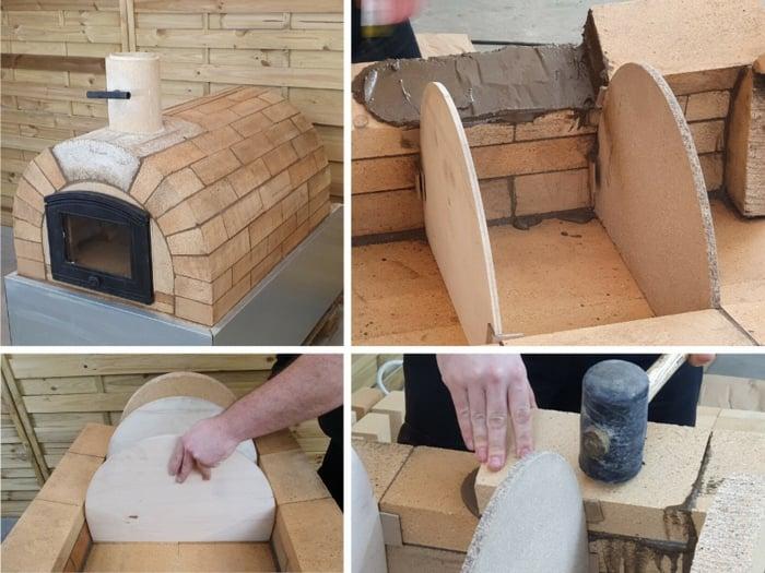 Pizzaofen selber bauen fertige Bauteile