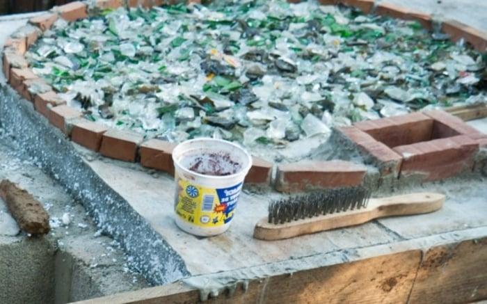Boden Pizzaofen Glasscherben hitzebeständig