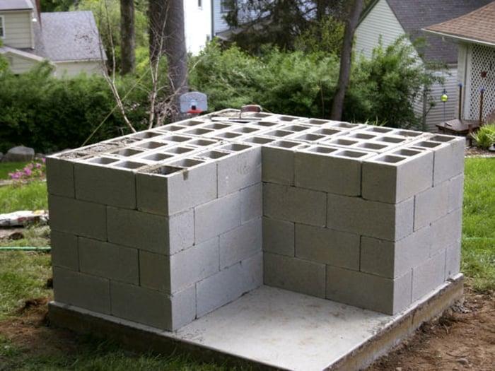 Unterkonstruktion Schalsteine L-Form