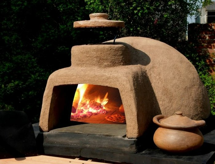 Outdoor Ofen Brot Pizza Fleisch backen