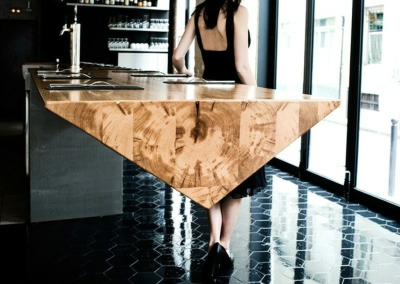 Prisma Bartisch aus Holz modern
