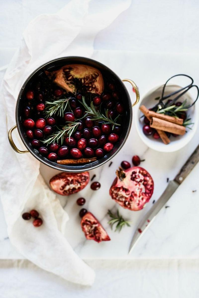 Potpourri machen Winter Beeren Uitrusfrüchte