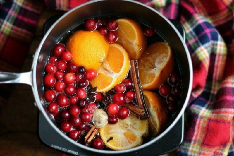 Raumduft machen zu Weihnachten Mandarinen Zimt