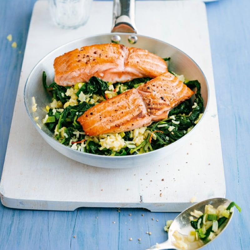 Lachs Rezepte mit Spinat