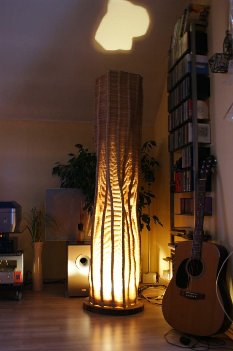 hohe Stehlampe DIY Eisstiele