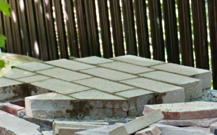 Outdoor Ofen Boden Schamottsteine