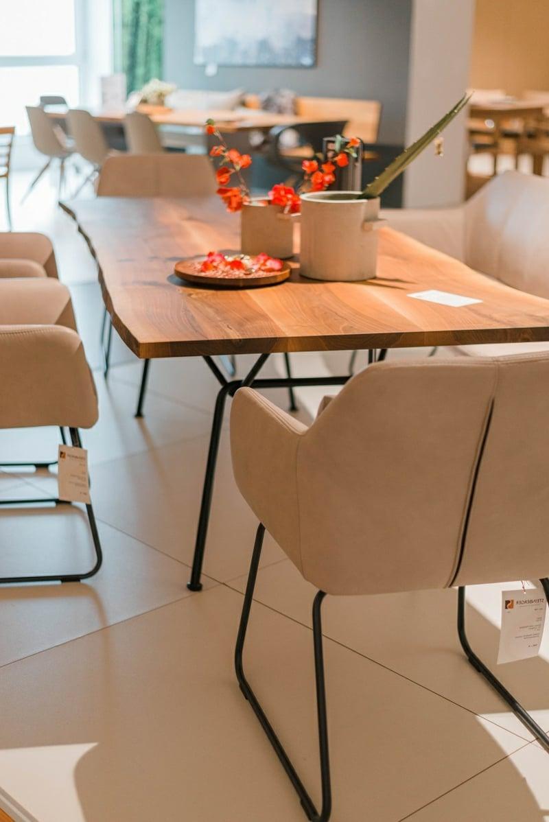 elegante Möbel Stühle Sitzbank Esszimmer