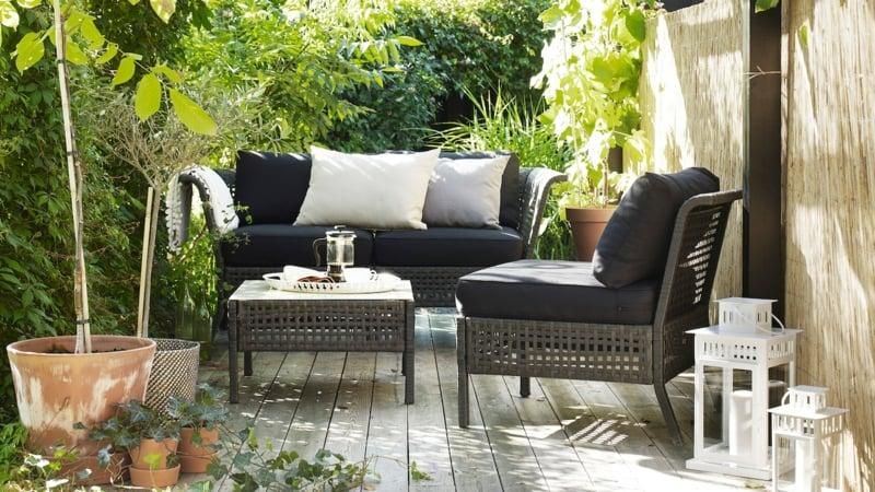 IKEA Gartenmöbel Sofa und Sessel