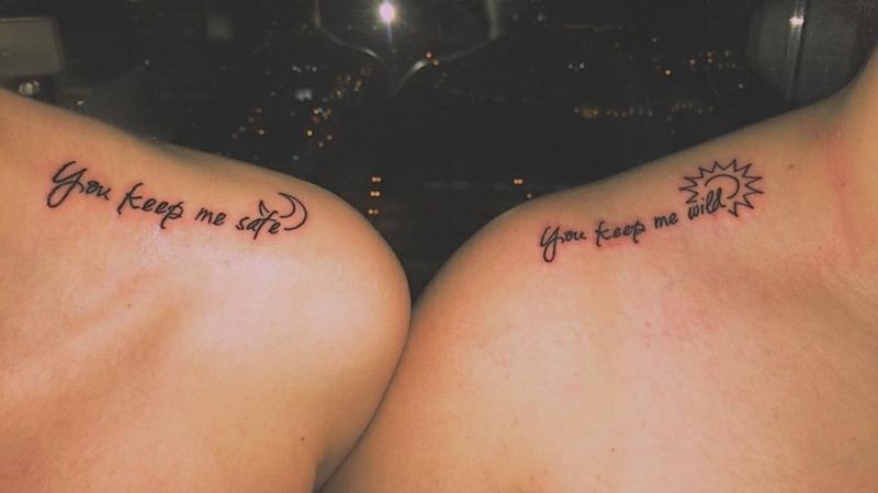 Spruch Tattoo Schulter Schlüsselbein