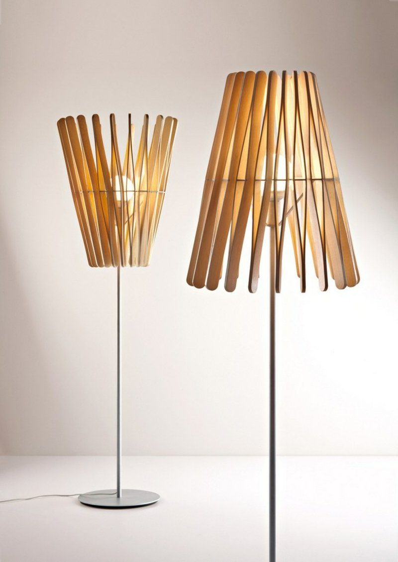 Nachttischlampe Lampenschirm Eisstiele elegant