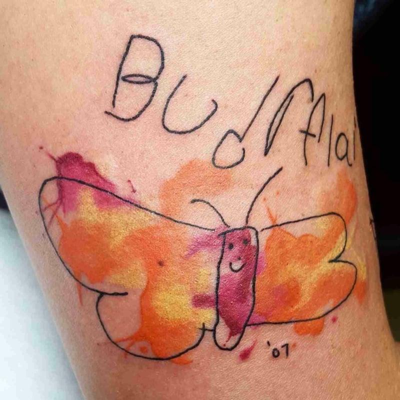 Tattoo Mutter Kinderzeichnung
