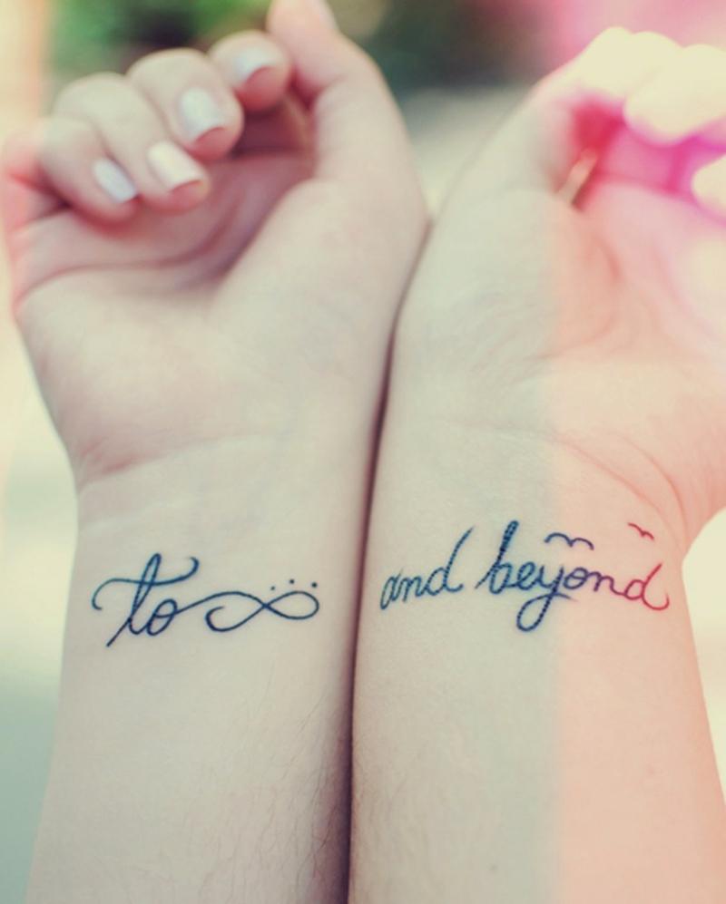 coole Tattoos Handgelenk Spruch