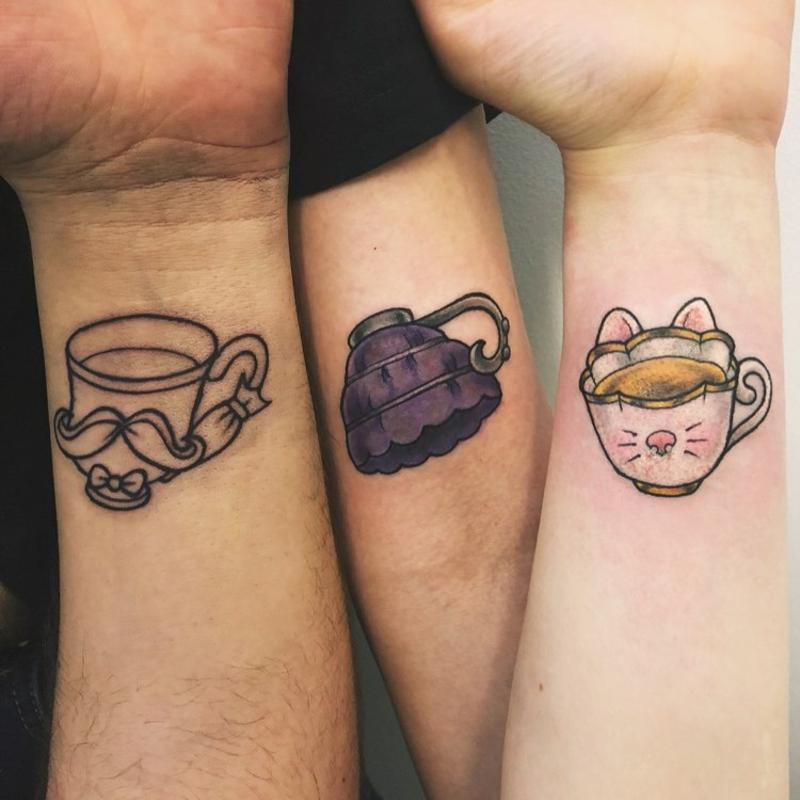 Freundschaftstattoo originelle Teetassen