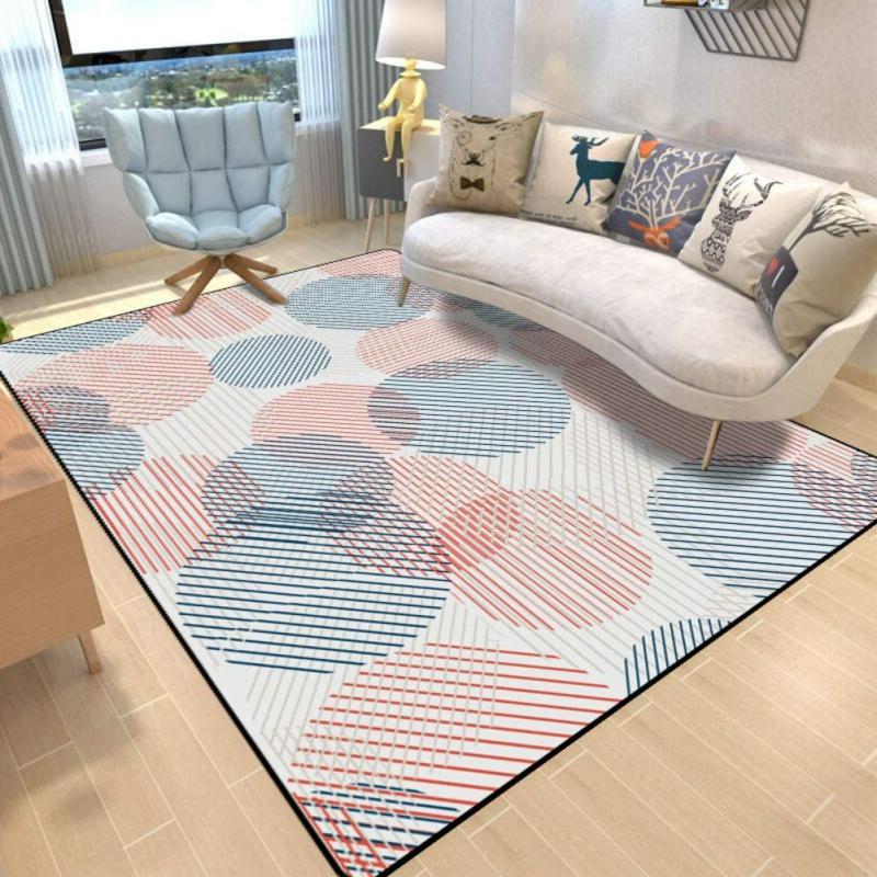 stilvoller Teppich Kreismuster