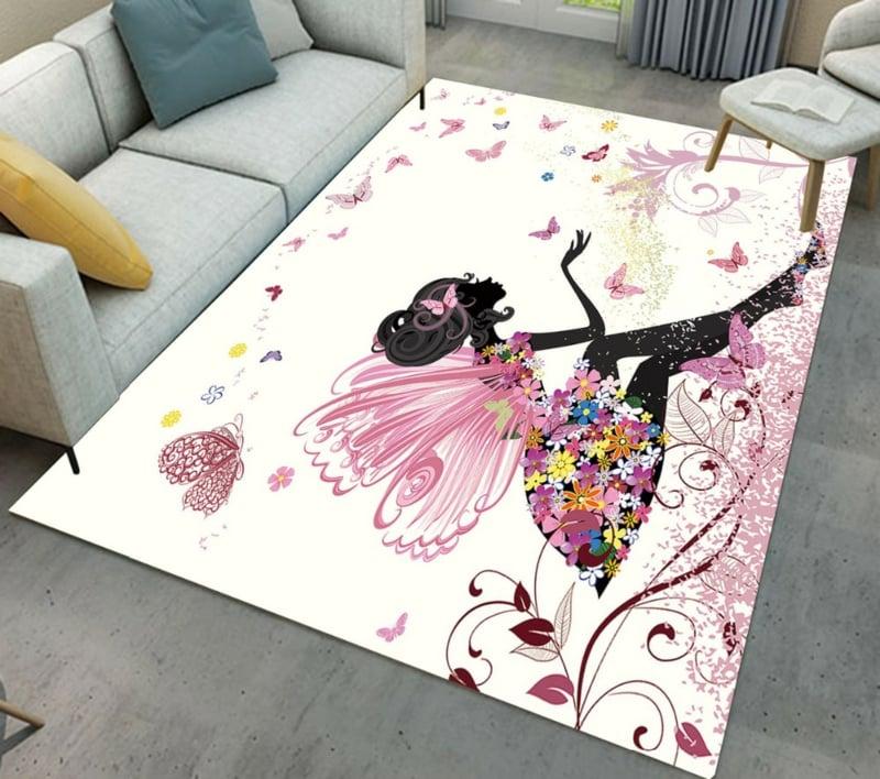 Kinderteppich Ideen für das Mädchenzimmer