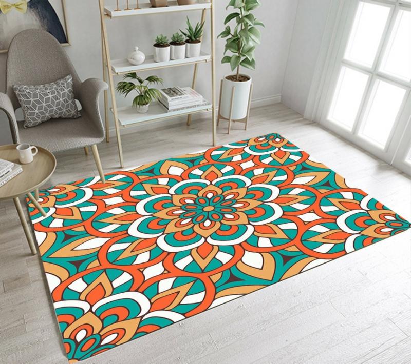 bunter Kinderteppich Mandala Motive