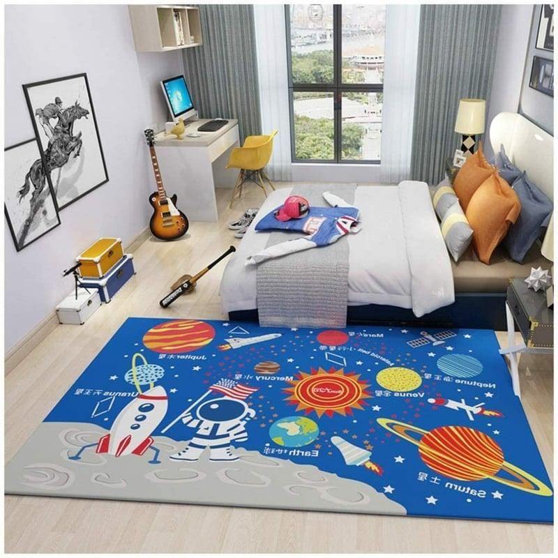 Jungenzimmer Teppich Planeten