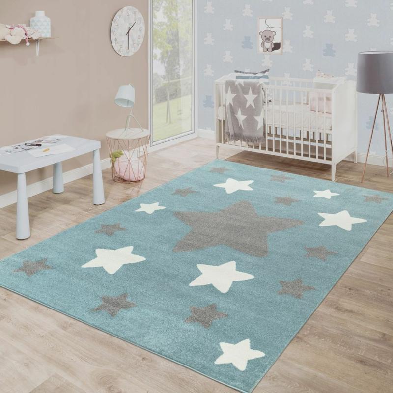 Babyzimmer Teppich Sternchen