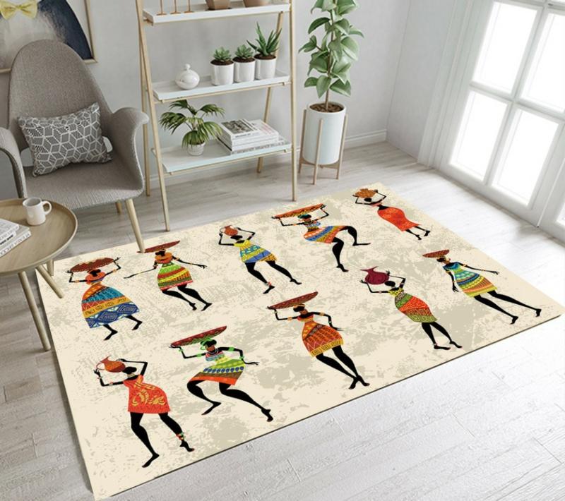 Kinderteppich originell tanzende Figuren