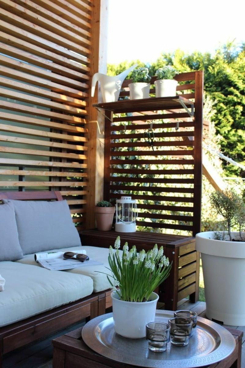 bequemes Sofa Sichtschutz Terrasse