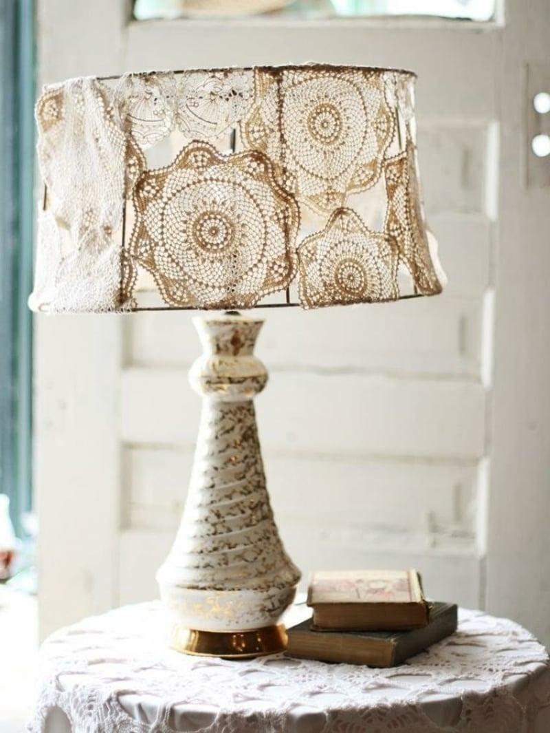 Lampenschirm Tischlampe Spitze