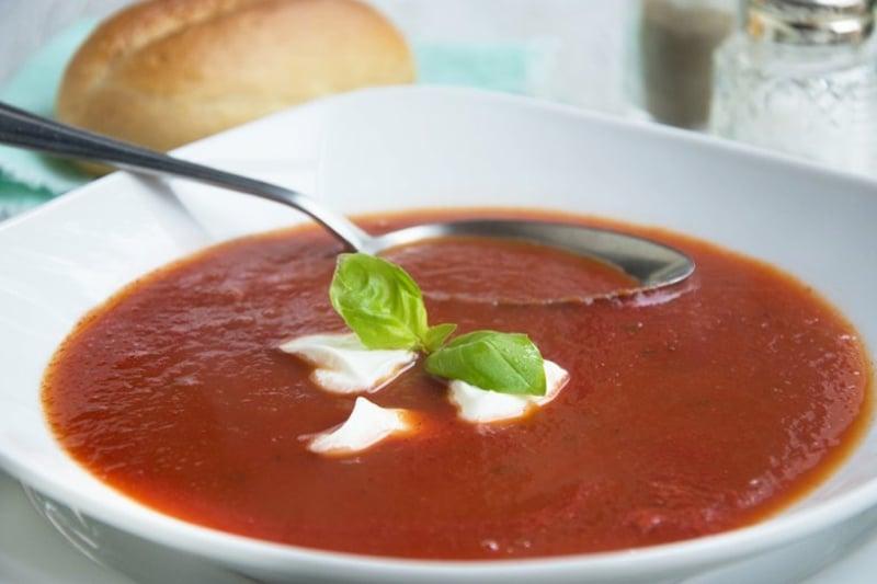 dickflüssige Tomatensuppe sehr lecker