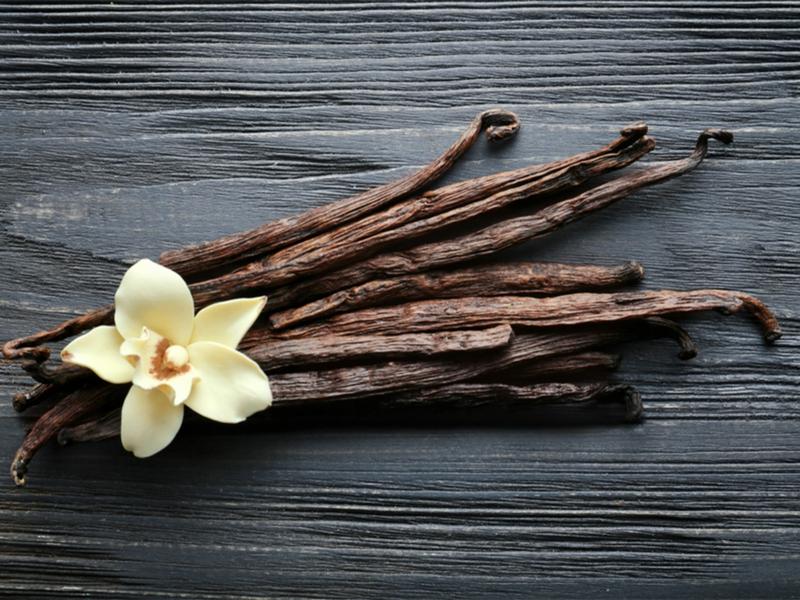 aromatische Kerzen machen mit Vanille