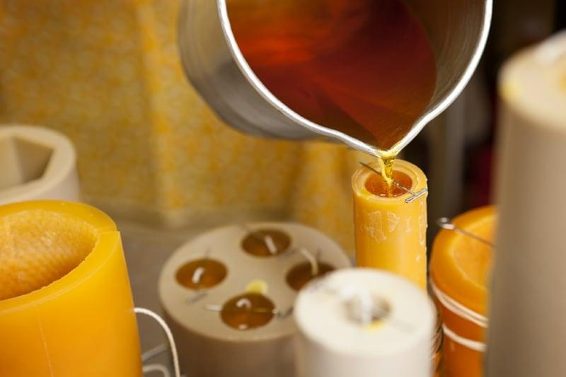 Duft Kerze machen Wachs gießen Form