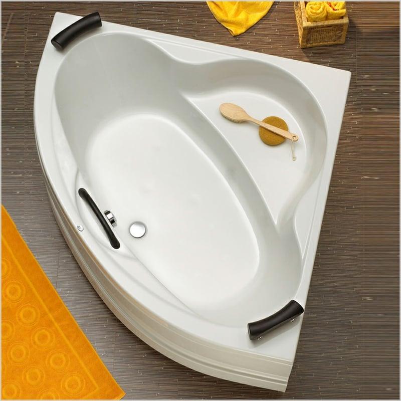 eckige Badewanne aus Porzellan