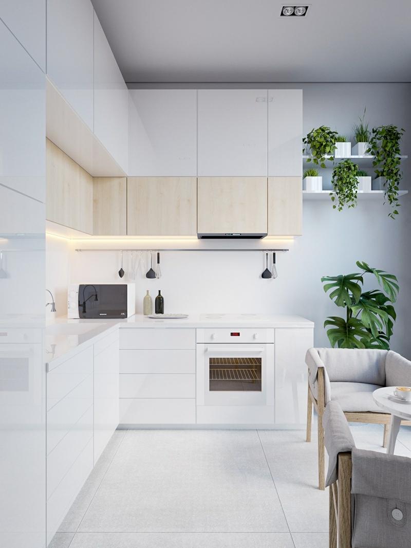 japanische Küche Einrichtung schlicht funktional