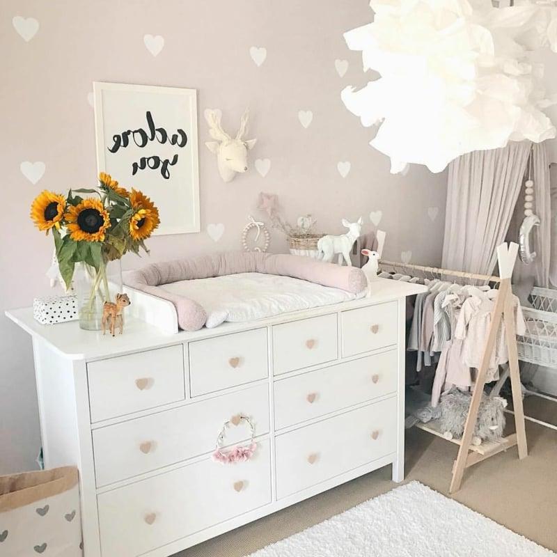 Wickelkommode Babyzimmer weiß