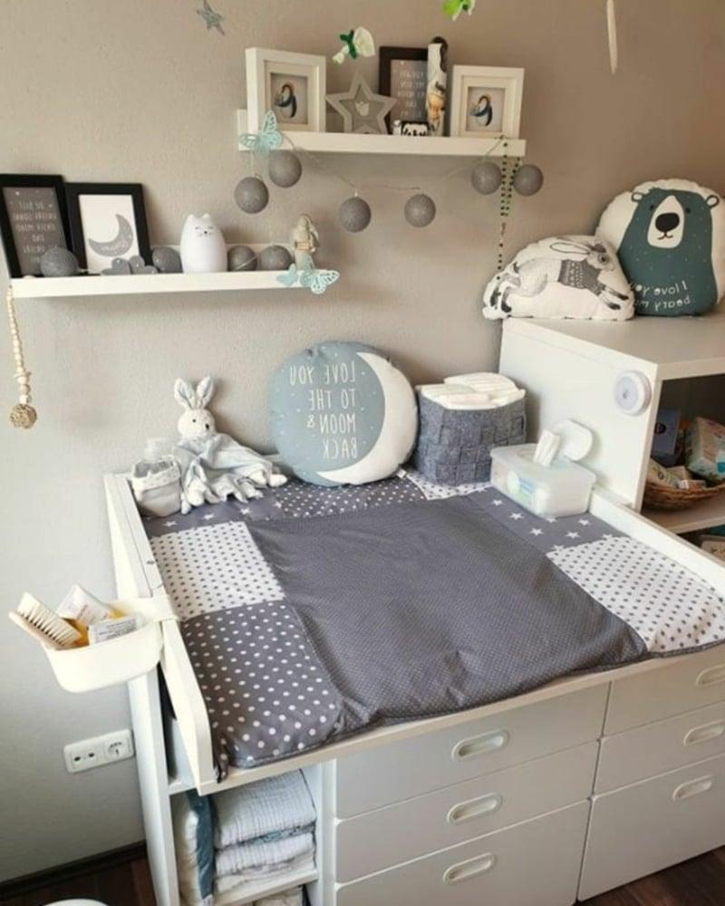 Wickeltisch im Babyzimmer Ideen und Anregungen