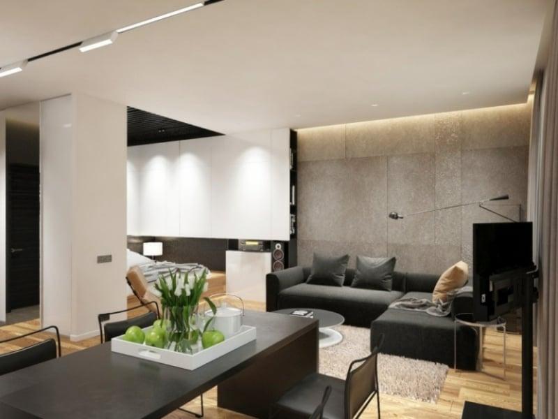 indirekte Beleuchtung Decke modern offener Wohnraum