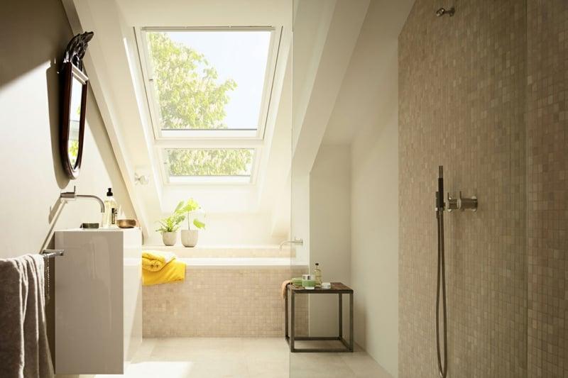 Badewanne Fenster Dachschräge