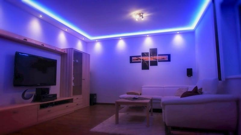 indirekte Beleuchtung Decke und Wand für ein cooles Ambiente