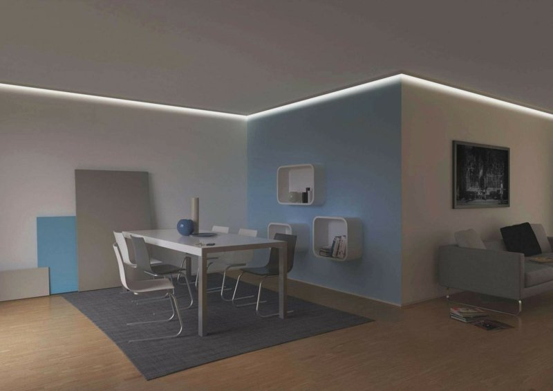 indirekte Beleuchtung Decke und Wand originelle Ideen