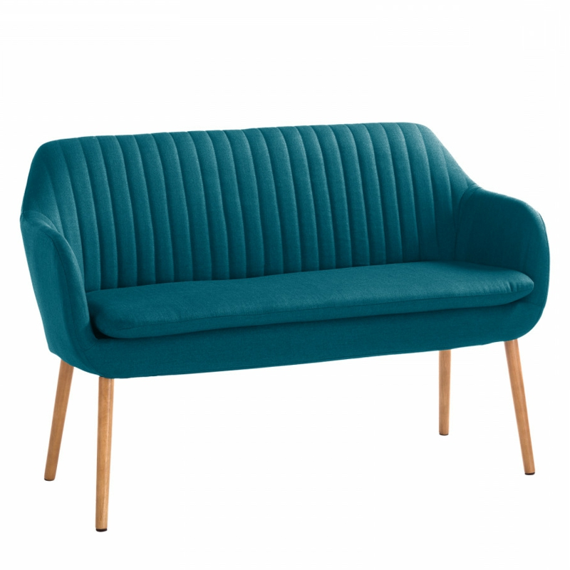 elegantes Vintage Sofa in Tiefblau