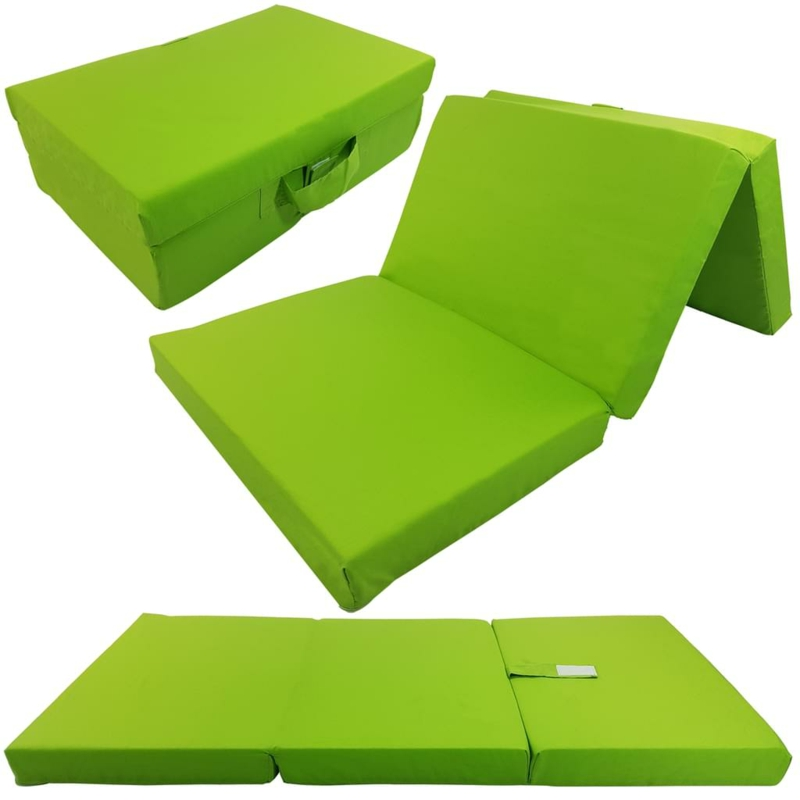 Faltmatratze grüner Bezug