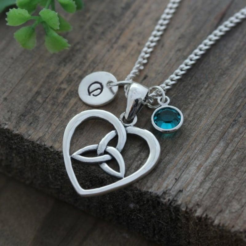 keltische Symbole Halskette Herz Knoten